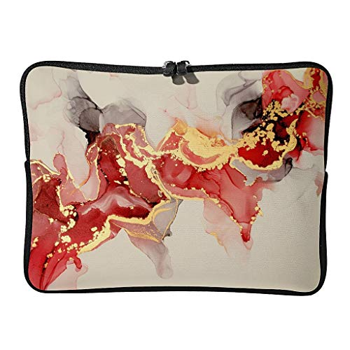 Regular Marble Texture Laptop Bags Scratch-Resistant Novelty Abstract Art Tablet Suitable for Indoor White 15 Zoll