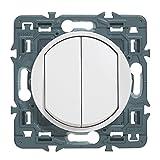 Legrand 099721 Céliane Soft – Double interrupteur ou va et vient – 10 AX, 250 V...