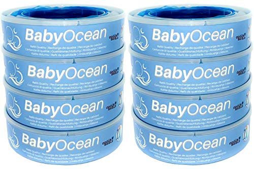 BabyOcean - 8 ricariche - Compatibili per il Maialino della Foppapedretti. 8 metri di lunghezza, sacchetti con 7 strati anti odore. Ricariche di qualità ad un prezzo fantastico.