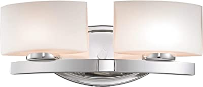 2 Bulb Bath Vanity Light Fixture Wall Mount with Plug-in ... on Sconces No Electric Plug id=99447