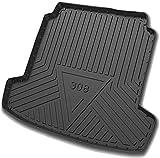HAZYLA Tapis de Coffre pour Peugeot 308,Rubber Trunk Tray Floor Mat Waterproof dustproof Protection Rear Cargo Modification Accessories