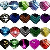 Haosell Juego de 60 plumas para dardos, color blanco, negro, rosa, rojo, lila, rosa, azul, verde, para dardos blandos y de acero