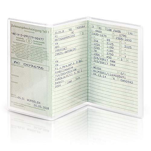 schildEVO Fahrzeugschein Hülle 3-teilig | Schutzhülle | KFZ Schein Mappe | Führerschein Tasche | Kartenhalter Schutzfolie