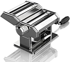 Pasta Maker Machine Stainless Steel Removable Noodle Making Manual Hand Crank Pasta Machine - Perfect for Homemade...