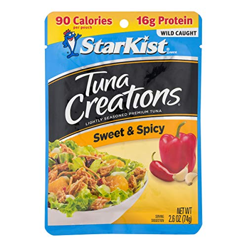 StarKist Tuna Creations, Sweet & Spicy, 2.6 oz pouch (Pack of 12) (Packaging May Vary)