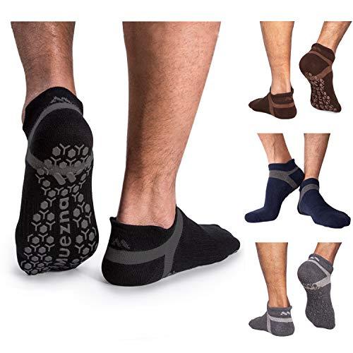 Muezna Men's Non-Slip Yoga Socks, A…