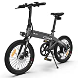 HIMO C20 Bicicleta Eléctrica, Bicicleta Eléctrica Plegable con Asistencia Eléctrica para Adultos, 20 Pulgadas, Rango de 80 km, 6 Velocidades, 3 Modos de Conducción, Velocidad Máxima de 25 km/h (Gris)