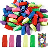 Habbi 450pcs Eraser Caps, Pencil Top Erasers, Pencil Cap Erasers, Eraser Tops, color Pencil Eraser Toppers for Home, School and Office