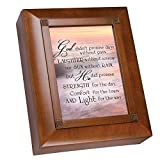 Cottage Garden God Didn't Promise Days Without Pain Woodgrain Remembrance Keepsake Box