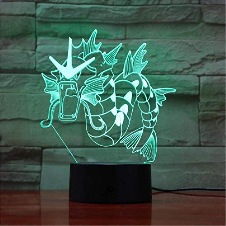 Fdlzz Farbe der Lampe 7 der Lampen-7 führte Nachtlampen-Kind-Note geführte USB-Baby-Schlafennachtlicht USB geführte Beleuchtungskrper 3D,Berührungsschalter
