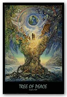Tree of Peace by Josephine Wall - 36 x 24 inches - Fine Art Print / Poster