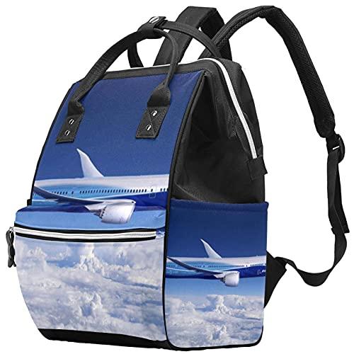 WJJSXKA Zaini Borsa per pannolini Laptop Notebook Zaino da viaggio Escursionismo Daypack per donna Uomo - aereo