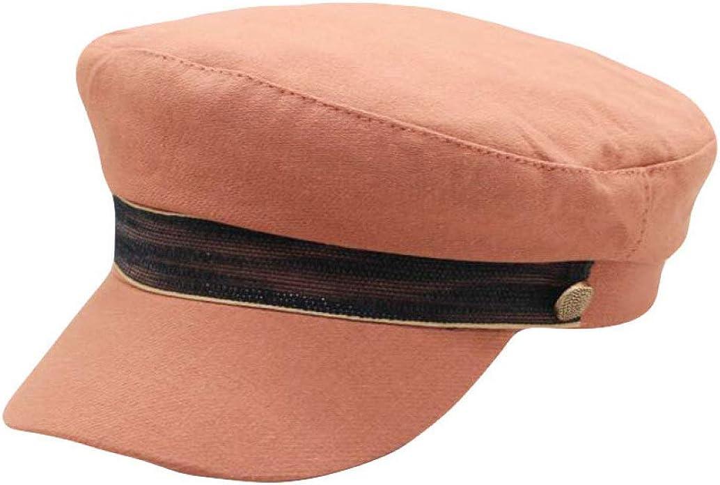 Women's Flat Military Cap Unisex Fashion Vintage Student Visor Hats Classic Casual Newsboy Berets