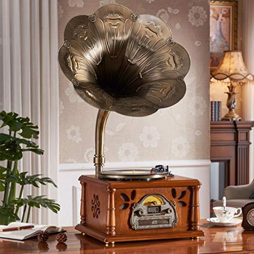 New GOM Record and CD Player with Speakers, 3-Speed Stereo Turntable, Supports Vinyl, Bluetooth, Rad...