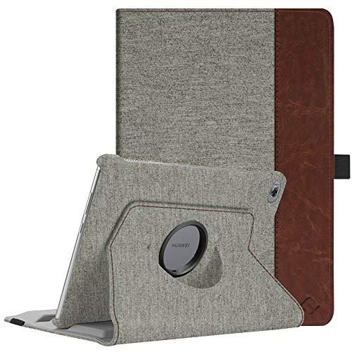 Fintie Hülle für MediaPad M5 Lite 10-360 Grad Rotierend Stand Schutzhülle Cover mit Auto Schlaf/Wach Funktion für Huawei MediaPad M5 Lite 10 10.1 Zoll 2018 Modell Tablet PC,Denim Gray