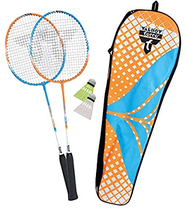 Talbot Torro Set de Badminton 2-Attacker, 2 Raquetas, 2 Volantes, en un Valioso Bolso, 449402