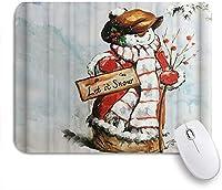 PATINISAマウスパッド 水彩冬雪だるまメリークリスマス ゲーミング オフィス最適 高級感 おしゃれ 防水 耐久性が良い 滑り止めゴム底 ゲーミングなど適用 マウス 用ノートブックコンピュータマウスマット