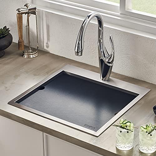Ruvati Outdoor BBQ Workstation Sink 15 x 15 inch Topmount Marine Grade...