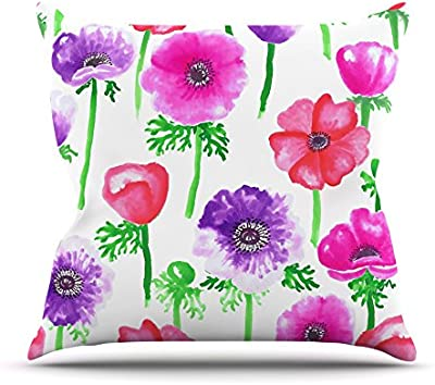 68 X 80 Kess InHouse Anneline Sophia Pink Roses Magenta Floral Wall Tapestry