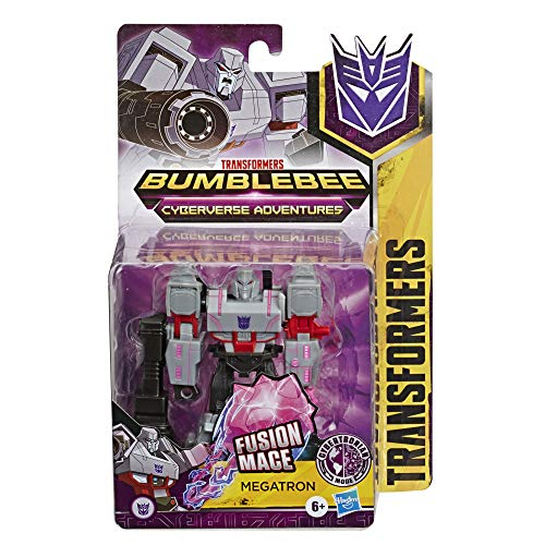 Transformers Hasbro E7087ES0 Bumblebee Cyberverse Adventures Action Attackers Warrior-Klasse Megatron Action-Figur, Fusion Mace Attacke, 13,5 cm