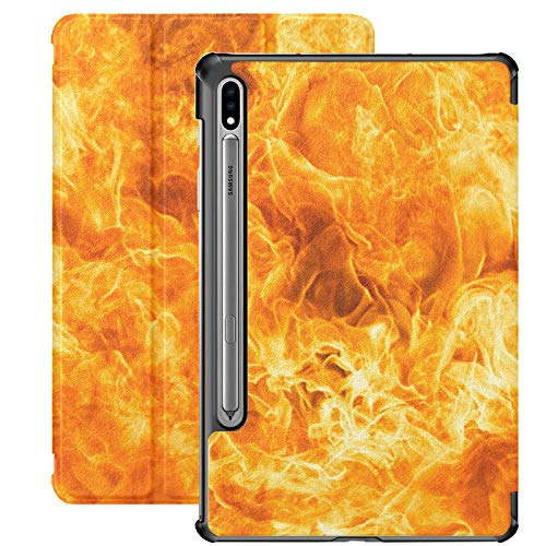 Abstract Blaze Fire Flame Texture Galaxy S7 Plus Tablet Case For Samsung Galaxy Tab S7/s7 Plus Cover For Samsung Galaxy S7 Stand Back Cover Galaxy Tab S7 Plus Case 2020 For Galaxy Tab S7 11 Inch S7 P