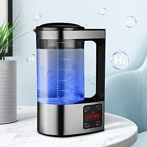 4YANG Wasserstoff-Wasserstoff-Wasserflasche Wasserstoff Alkaline Generator 2 Liter großes Fassungsvermögen Thermostat Digitale Touch-Steuerung Stellen Sie den Wasserstoffgehalt auf 1300-1600 PPB EIN