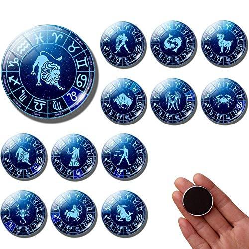 Koelkast magneten 12 Constellatie Koelkast Magneet Zodiac Sign 30MM Koelkast Magneten Leo Schorpioen Ram Vissen Verjaardag Koelkast Sticker Home Decor