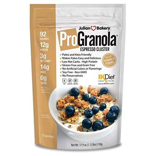 Julian Bakery® ProGranola® | Espresso | 12g Protein | Paleo | 3 Net Carbs | Gluten-Free | Grain-Free | 15 Servings