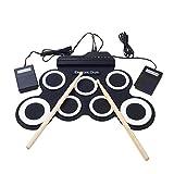 MOGOI Electronic Drum Kit, Mini Digital Music Pad Instrument Set, Foldable Musical Practice