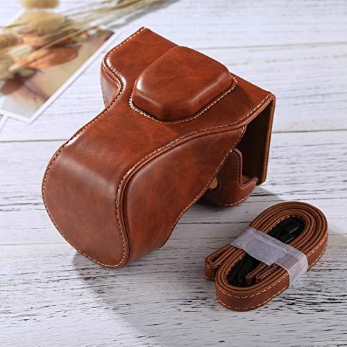 Consumer YHM Ganzkörperkamera PU-Ledertasche mit Riemen für FUJIFILM XT10 / XT20 (16-50mm / 18-55mm) (Schwarz) (Color : Brown)