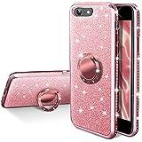 Silverback Coque de protection pour iPhone 8 avec anneau et béquille pour iPhone 8 Or rose
