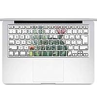 igsticker MacBook Air 13inch 2010 ~ 2017 専用 キーボード用スキンシール キートップ ステッカー A1466 A1369 Apple マックブック エア ノートパソコン アクセサリー 保護 015950 サボテン 多肉植物