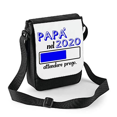 bubbleshirt Mini Borsa a Tracolla Festa del papà - papà nel 2020 Attendere Prego - Humor - Happy Father's Day - Idea Regalo