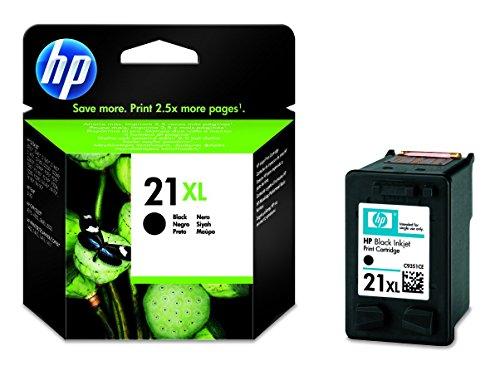 HP 21XL Schwarz Original Druckerpatrone mit hoher Reichweite für HP Deskjet 3940, D1530, D2360, D2460, F2180, F2224, F380, F4180; HP Officejet 4315, 4355, 5610, 5615; HP PSC 1410