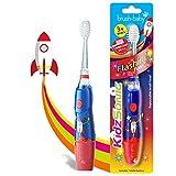 KidzSonic - Cepillo de dientes eléctrico para niños a partir de 3 años, rocket