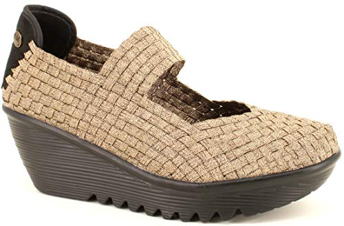 B M BERNIE MEV NEW YORK Zapatos Cuña Lulia Bronze