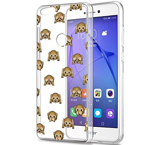Eouine Funda Huawei P8 Lite 2017, Cárcasa Silicona 3D Transparente con Dibujos Diseño Suave Gel TPU [Antigolpes] de Protector Bumper Case Cover Fundas para Movil Huawei P8Lite 2017 (Mono): Amazon.es: Electrónica
