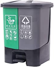 C-J-Xin Outdoor Classification Trash Can, Large Capacity Thickening Pedal-Type Trash Can Recycling Bins with Plastic Inner...
