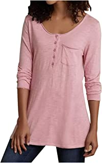 Remanlly Women's Casual Tunic Tops Long Sleeve and Short Sleeve O-Neck T-Shirt Blouses