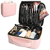Bvser Travel Makeup Case, PU Leather Portable Organizer Makeup Train Case Makeup Bag Cosme...