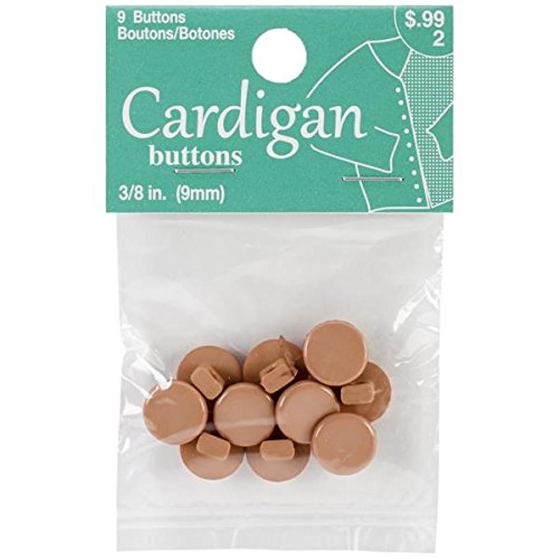 Blumenthal Lansing Cardigan Buttons, 3/8-Inch, Tan
