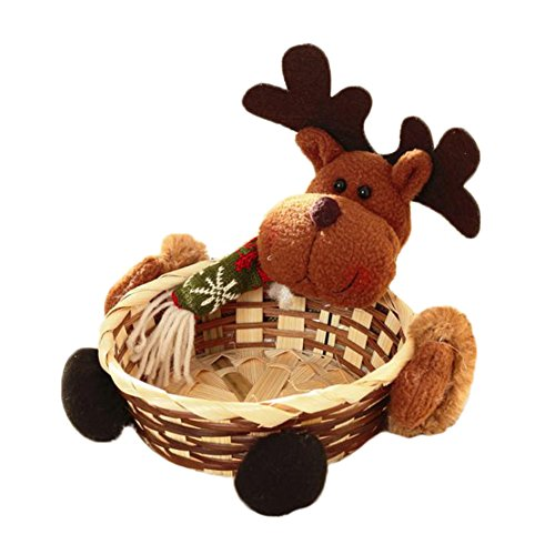 Leisial Cestino della Caramella di Natale Cestini di Caramelle Decorazioni da Tavolo del Desktop di Natale Regali di Decorazioni Natalizie