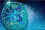 Diamante Pintura DIY 5D Doce Constelaciones Acuario Azul Acuario Diamond Painting Mosaico Pintura Punto De Cruz Bordado Para El Hogar La Oficina La Salón La Decoración T162-Taladro Cuadrado,40x50cm