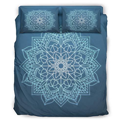 Juego de ropa de cama Tröster, juego de 4 fundas de almohada y funda de edredón, suave y cómoda, color blanco, 228 x 264 cm