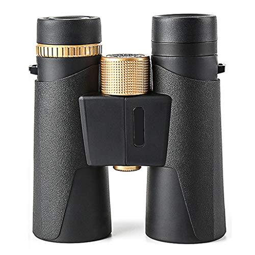 LIMUZI 10x42 Binocular, HD Roof Prism Profesional Prismáticos -BAK4 Prisma FMC Lente para observación de Aves, Deportes y Vida Silvestr ( Color : Chrome )