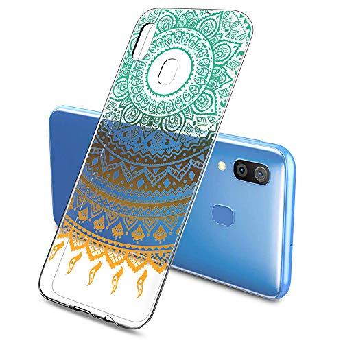 Suhctup Schutzhülle für Samsung Galaxy A20S, Silikon, Spitze, Samsung A20S, weich, transparent, Silikon, ultradünn, 3D Cartoon, stoßfest, Schutzhülle für Galaxy A20S