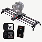 KONOVA Motorizado Slider P1 Series Carbono Slider Dolly with S2 for Parallax Panorama Shot Live Motion and Timelapse Supports Camera, Gopro, Mobile Phone, DSLR, Mirrorless with Bag (80cm)