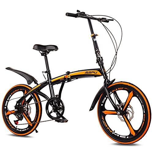 GWL Bicicleta Plegable para Adultos, 20 Pulgadas de Velocidad Variable, Bicicleta de montaña prémium para niños, niñas, Hombres y Mujeres, Una Rueda/B
