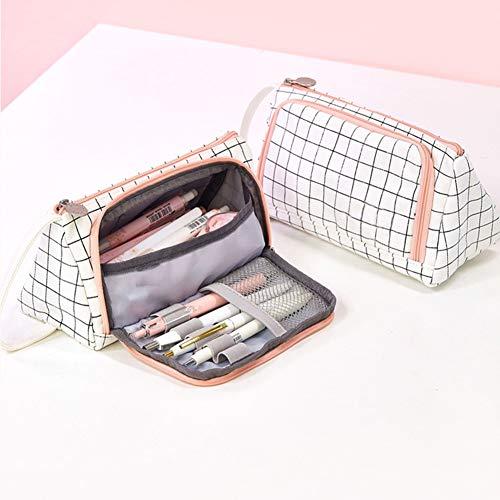 ulofpc Tragbare große Kapazität Leinwand Stift Tasche Multifunktions-Schreibwaren Aufbewahrungsbox Office Schulbedarf