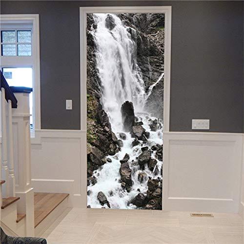 DFKJ Landschaft Tür Aufkleber Wandbild Poster Abnehmbarer Raum DIY Wallpaper Aufkleber Home Decoration Zubehör A10 77x200cm